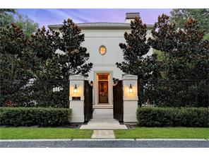 70 E Broad Oaks Drive - gated entry to front courtyard - professionally landscaped with landscape lighting.