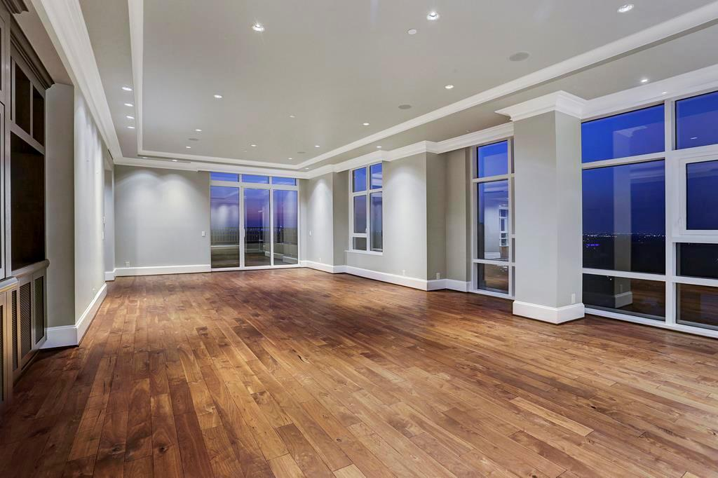 The chandelier is in the entry.  This picture shows you how this family room is separate from the rest of the residence.