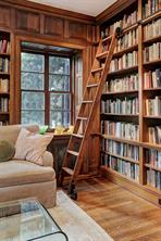 [Library]A closer view of the library bookcases and ladder.