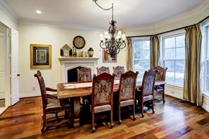 Another view of the FORMAL DINING ROOM that is connected to a perfectly positioned BUTLER'S PANTRY for convenience of serving dinner.