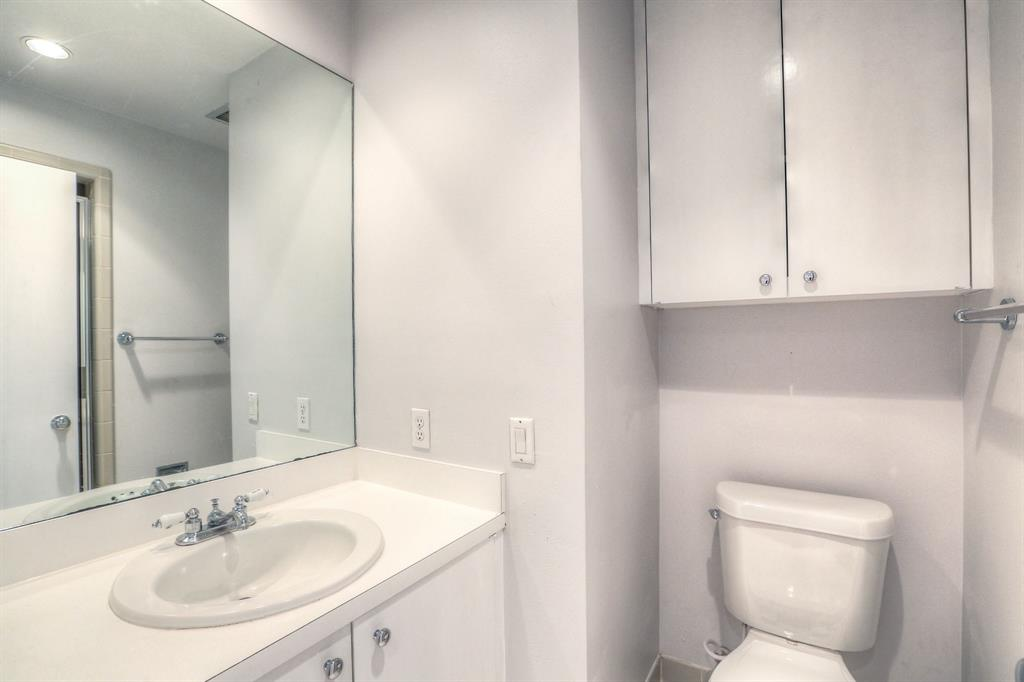 Second full bath with shower adjacent to second bedroom.