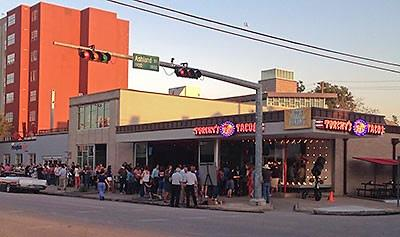 Walk to Torchy's Tacos and all of the shops on 19th Street.