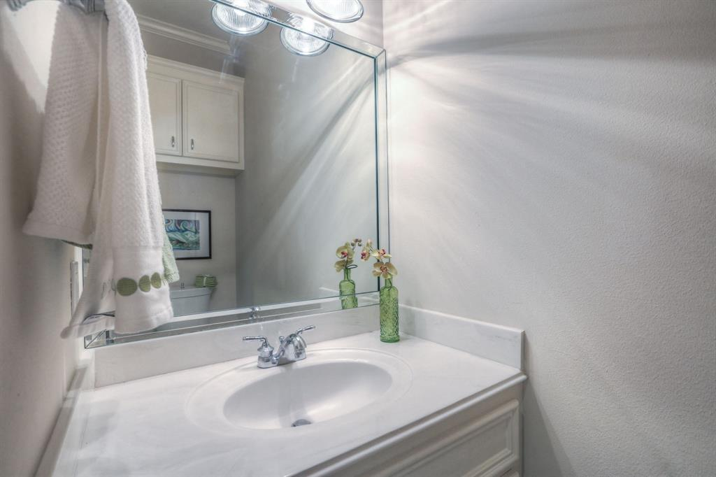 This powder room is conveniently located on the main living floor.