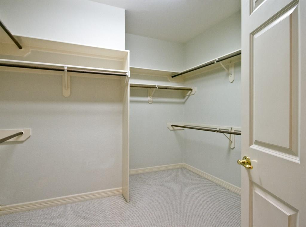 Master bedroom features a large walk-in closet.