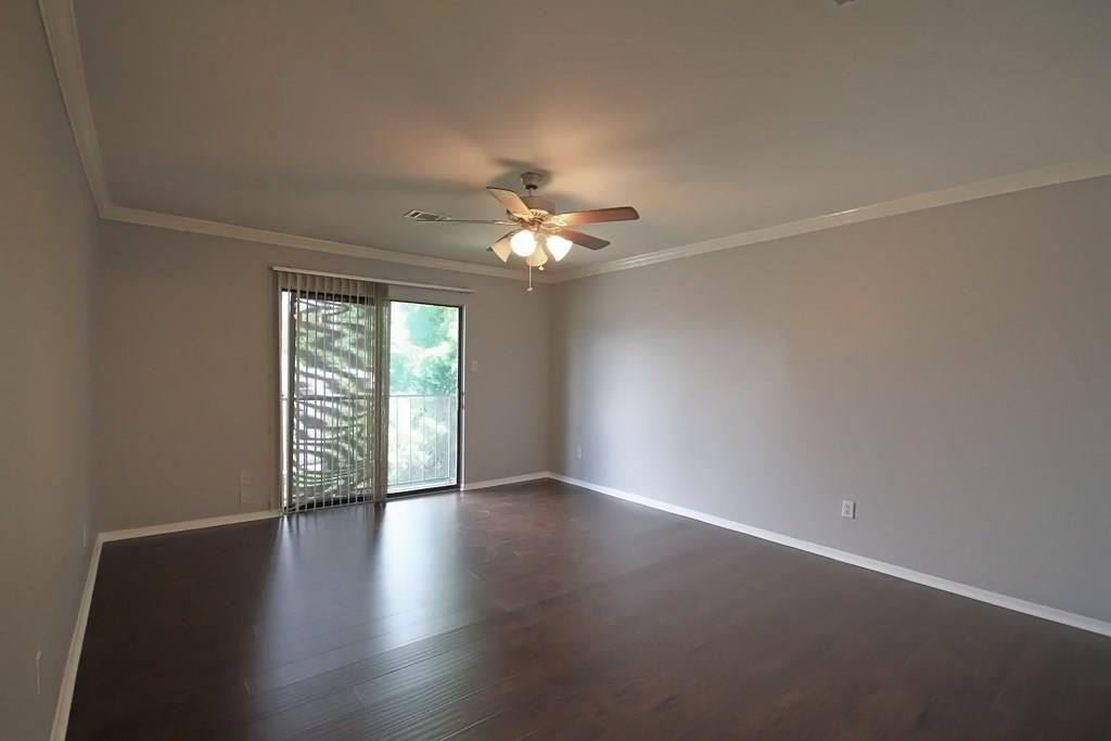 Large master bedroom with Juliette balcony