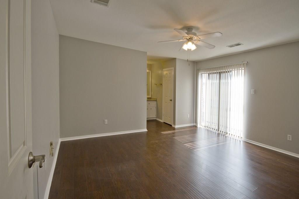 Large second bedroom with another Juliette balcony