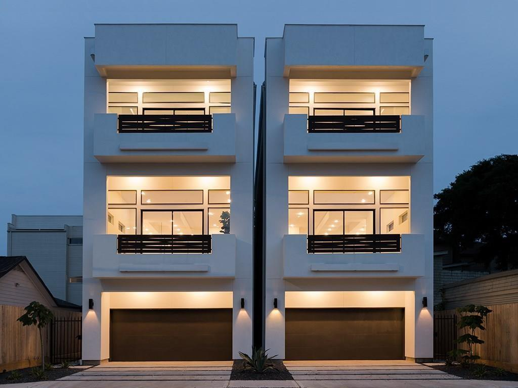 Distinctive Modern architecture houses chic contemporary design in the heart of Montrose! Soaring 13