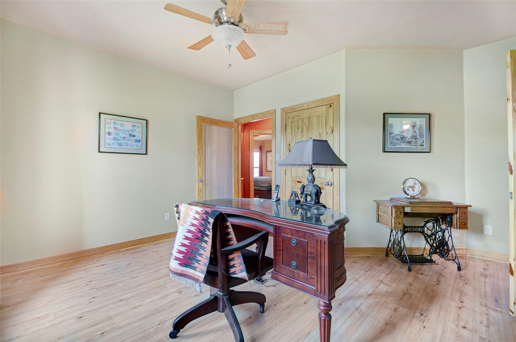 If the need fits... with walk-in closet and ample floor space this room easily can be used as a secondary bedroom.