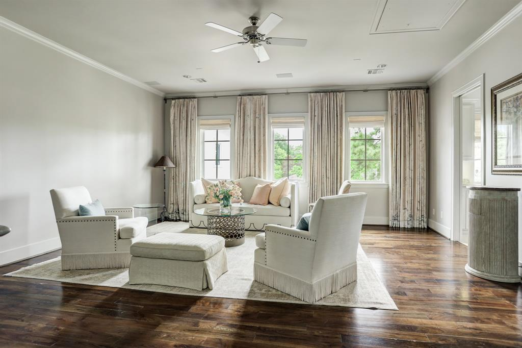 This is the spacious upstairs family room or gameroom.
