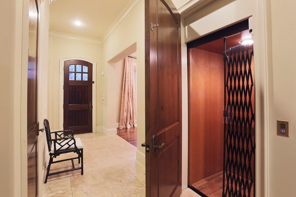 Just off the Front Entry is the ELEVATOR CLOSET which travels to the third floor!
