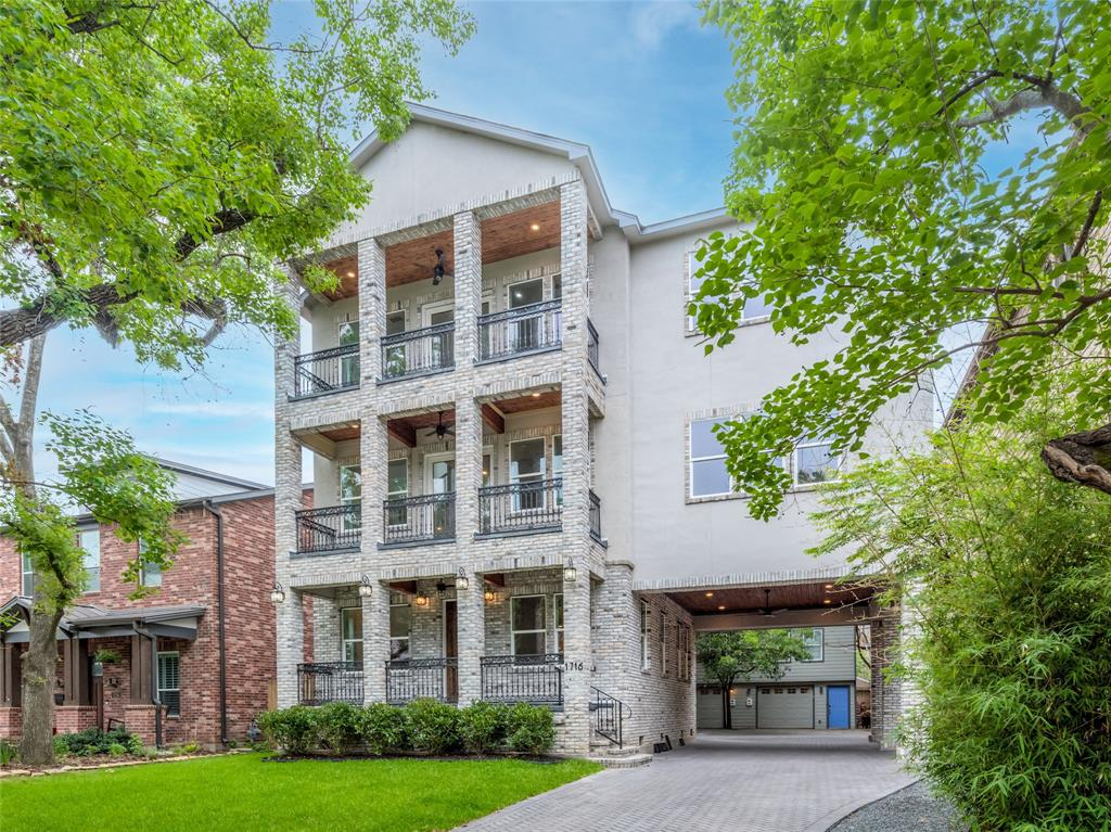 Balconies on every level of the Main House.  Large brick-paved motor court to accommodate your company. 2-unit townhouse in the back is perfect for intergenerational living, college students, or as a work-from-home office.  Currently used as Income-Producing Rentals.  Contact listing agent for more details today.