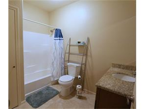 "Full bath upstairs, granite counter tops and gorgeous 18"" tile"