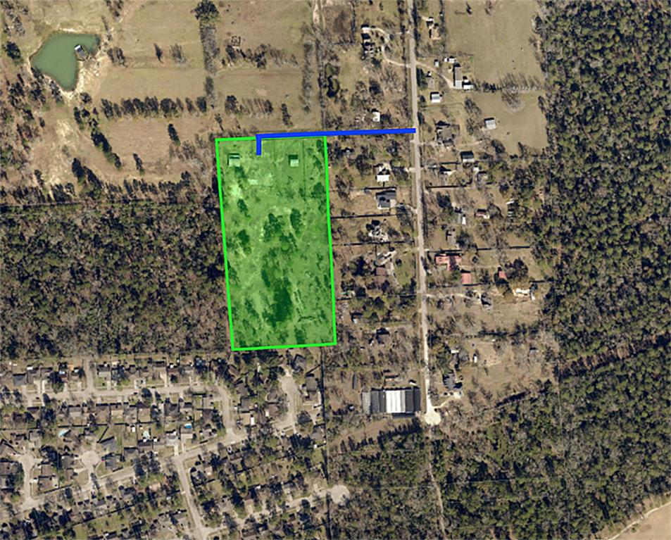 LARGE 9.6 ACRE PROPERTY LOCATED 40 MINUTES FROM DOWNTOWN. FEATURE INCLUDE PRIVATE ROAD, ELECTRICAL UTILITIES, WATER WELL, SMALL LAKE TOWARDS REAR OF PROPERTY, AND 1-D-1 AGRICULTURE EXEMPTION. READY FOR DEVELOPMENT OR TO KEEP AS ACREAGE NEAR THE CITY. ACCESS TO 59N/1960/I-45/BUSH INTERCONTINENTAL AIRPORT. THE PROPERTY IS ON 2 ACCOUNTS W/ THE APPRAISAL DISTRICT DUE TO 1-D-1 AGRICULTURE EXEMPTION. THE HOUSE ON WAS DEMOED 2 YEARS AGO AND ONLY 2 BARNS REMAIN.