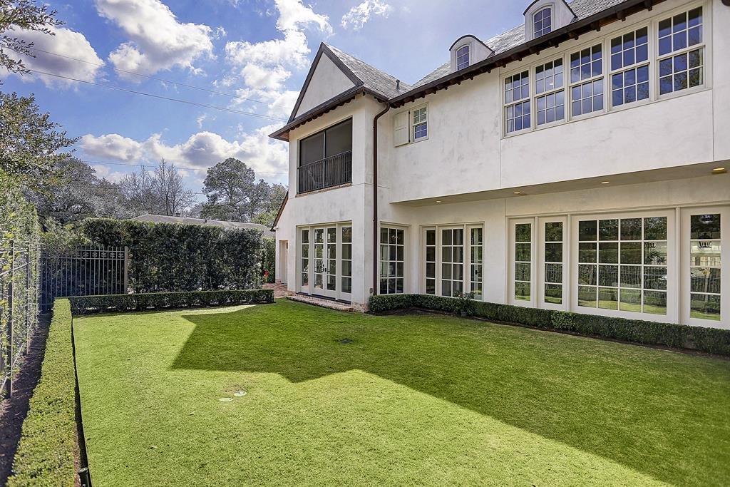 Backyard of Houston home by Southampton Homes