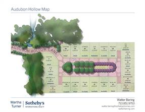 The site plan layout consist of 22 homes wrapping around a central park area with a strong connection to the hollow preserve that defines the property.