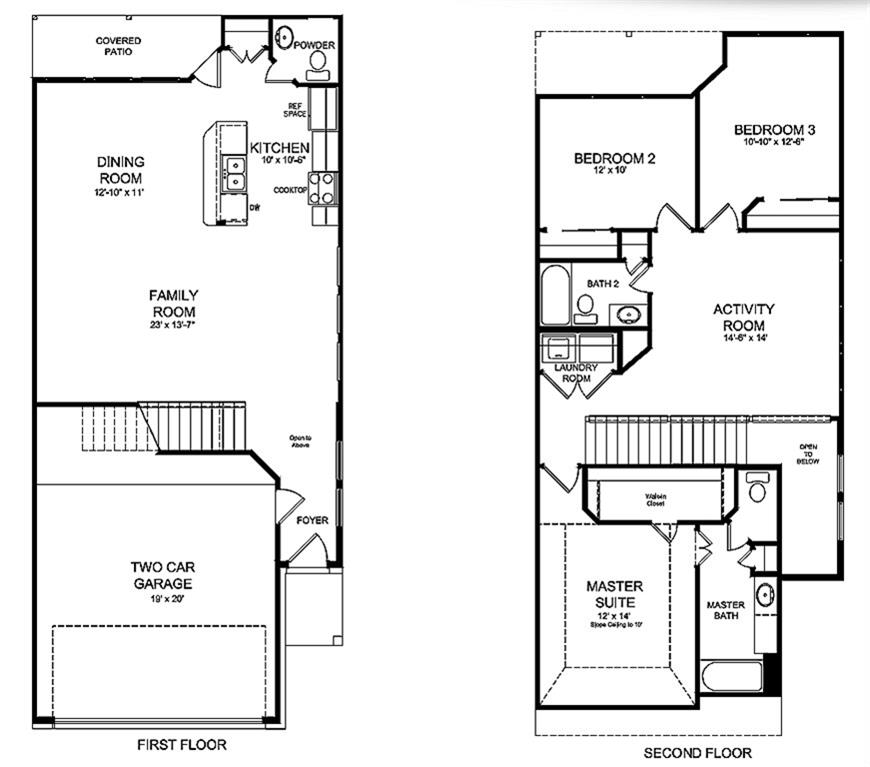 Marvelous K Hovnanian Home Floor Plans Part - 7: The Midland Floor Plan By K. Hovnanian® Homes. 1st And 2nd Floor Shown.  *Prices, Plans, Dimensions, Features, Specifications, Materials, And  Availability Of ...