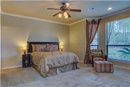 Spacious master bedroom with sitting area.