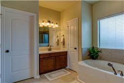 Master bath and his sink area.
