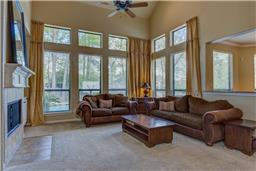 Gas fireplace with spacious family room and open to kitchen and breakfast area.