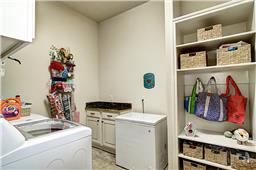 Large Laundry with Built in Mud Shelves for the After School Drop Off