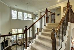 Extra Wide Stairs with Iron Spindles