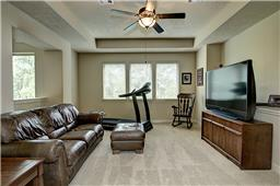 Large Game Room with Trey Ceiling