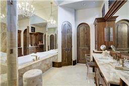 Charter Custom Homes master baths are always luxurious and gracious in size.