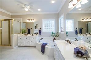 Master bathroom with separate shower and jetted tub
