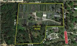 Beautiful 11.2 Acre unrestricted property in the fast-growing Montgomery County! Comes with $1,000 p/mth income from a lease of a small warehouse. Has tree nursery that needs a little TLC to bring it back to life.