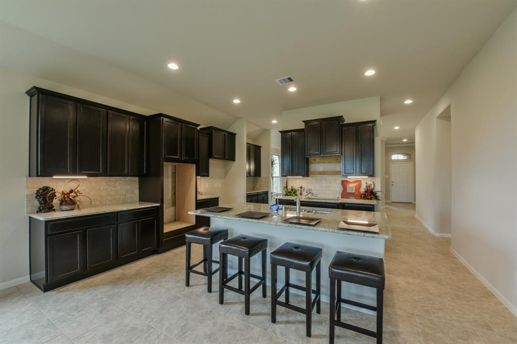 Amazing Tall Cabinets With Under Mount Lighting, High Ceilings With  Recessed Lighting. Large Tile Floors And More!