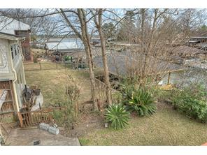 Views of Lake Conroe from deck during winter and spring.