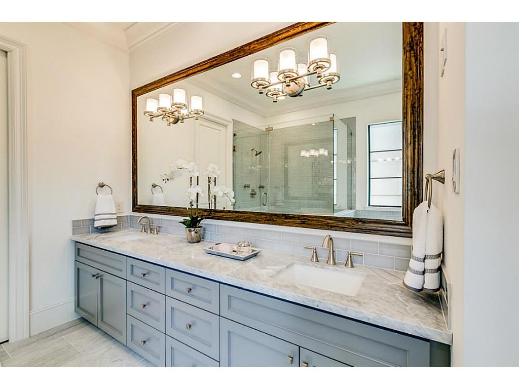 The Master Bath features Pre-Wired Speaker, Custom Vanities, Natural Stone  Countertop, Air Tub, Glass Enclosed Stand Up Shower, Energy Efficient  Toilet, ...
