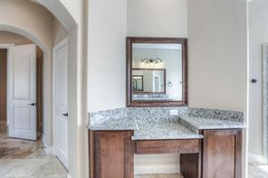Opposite vanity seen here in the spacious master bath.