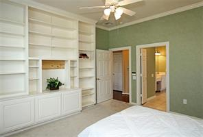 This shows more of the built-ins and entry into the master bath.