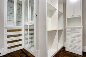 Master closets have superb built-ins.Image is of another, similarly constructed property.