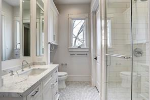 One of the secondary bathrooms.Image is of another, similarly constructed property.