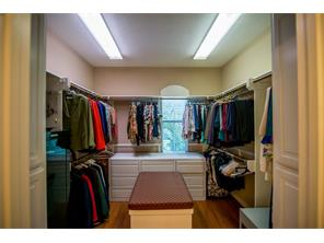 Wonderful closet space in the master