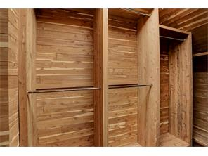 This generously-sized CEDAR CLOSET is located across the hall from the 2nd Floor Laundry Room and has lots of hanging space and shelving for storing your wool and off-season clothes.