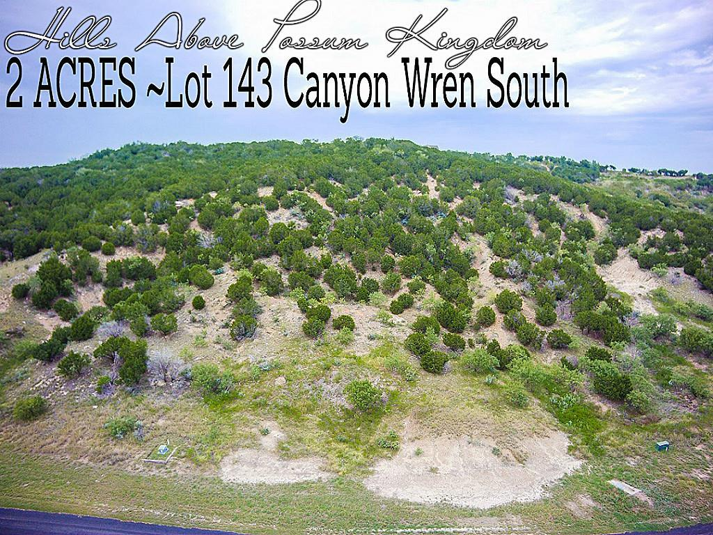 Lot 143 Canyon Wren, Graford, TX 76449