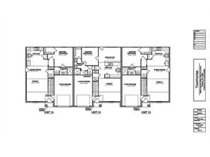 Ground Level - Floor Plan For Building Units -  we are now building units  19 - 24.