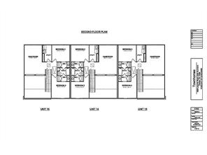 2nd  Level - Floor Plan For Building Units -  we are now building units  19 - 24.