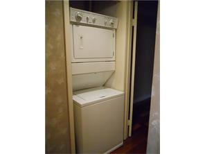 Stackable washer and dryer provided.