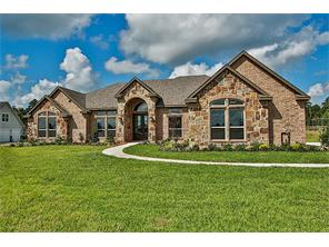 Stunning one story custom home on one acre lot in Estate neighborhood