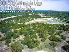 Lt 1258 Hidden Valley, Bluff Dale TX 76433