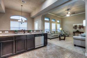 Kitchen is open to the living area and is perfect for entertaining guests