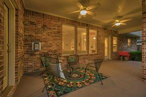Spacious covered patio provides the perfect backyard retreat.