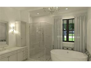 Rendering of the master bathroom.