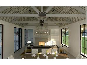 Rendering of the grand formal living & dining rooms.
