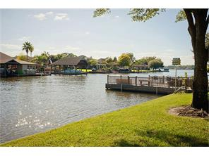 Canal front property with open lake views