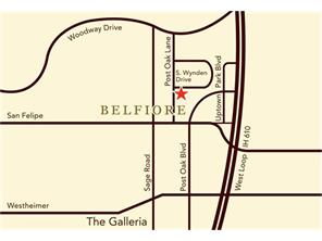 Belfiore is on the east side of S. Post Oak between Woodway and San Felipe, within easy walking distance to Fresh Market, Whole Foods, the Post Oak Grill, other great restaurants & retail shops.
